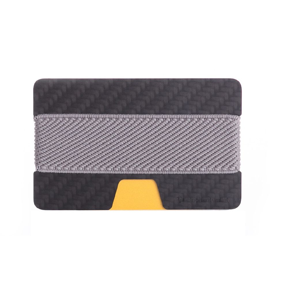 Minimalist Carbon Fiber Wallet - Carbon/Gray