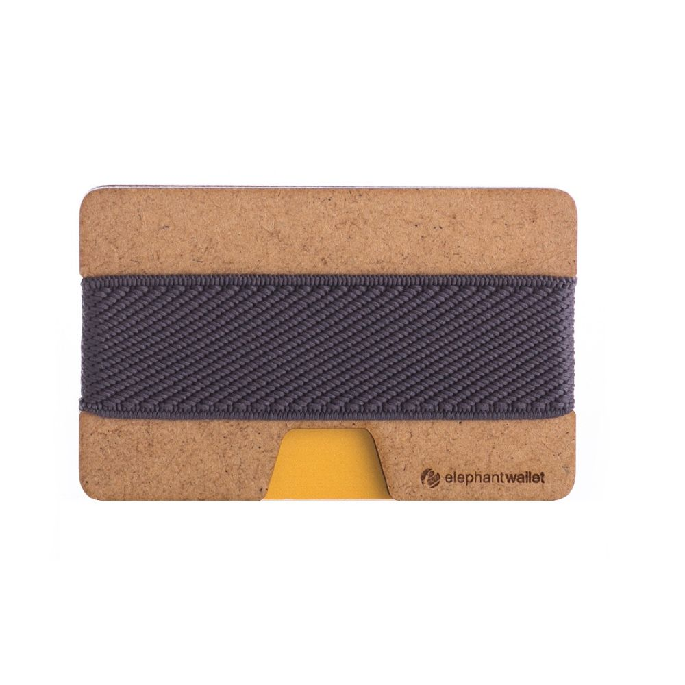 Minimalist Wood Wallet - Wood/Gray