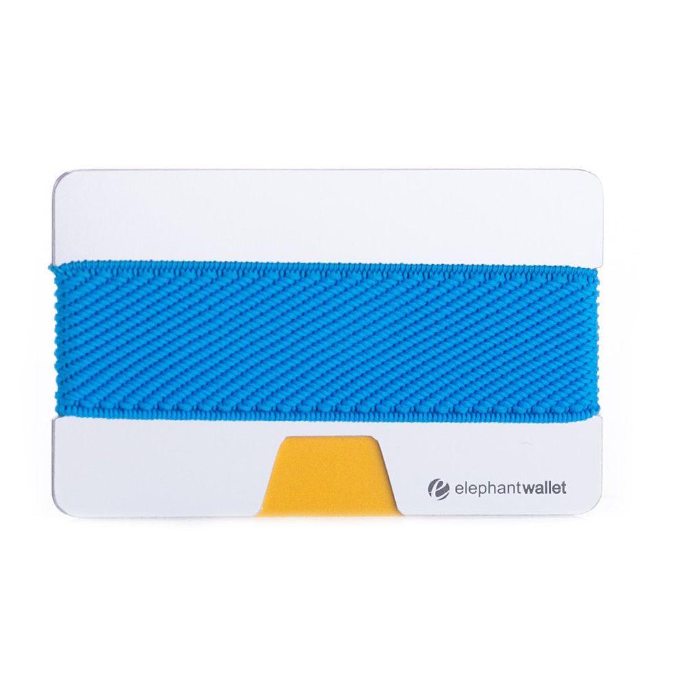 elephant Minimalist Aluminum Wallet - Aluminum/Azure