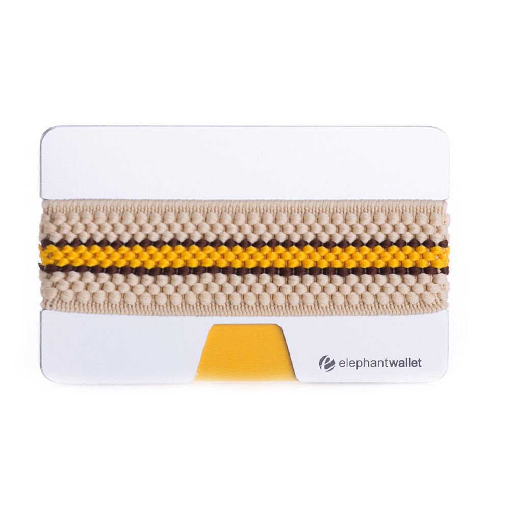 elephant Minimalist Aluminum Wallet - Aluminum/Beige