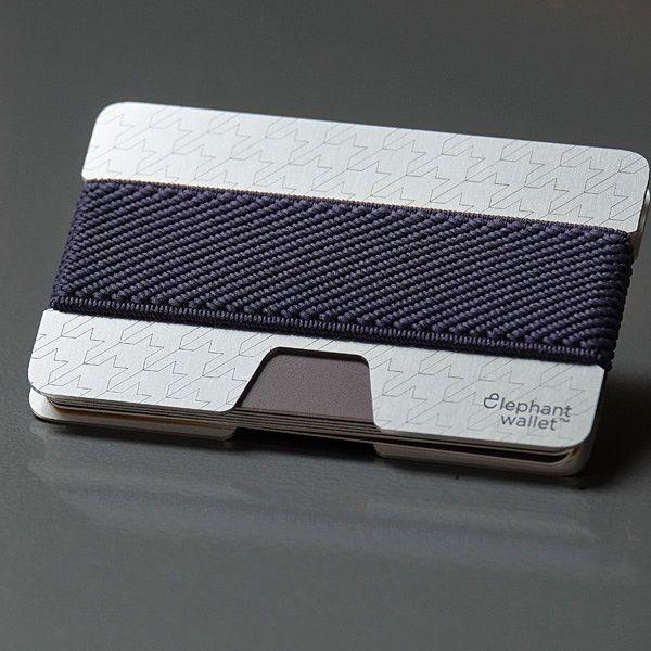 elephant Minimalist Aluminum Wallet - Aluminum Pattern