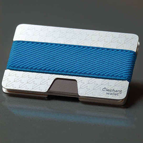 elephant Minimalist Aluminum Wallet - Aluminum/Light Blue