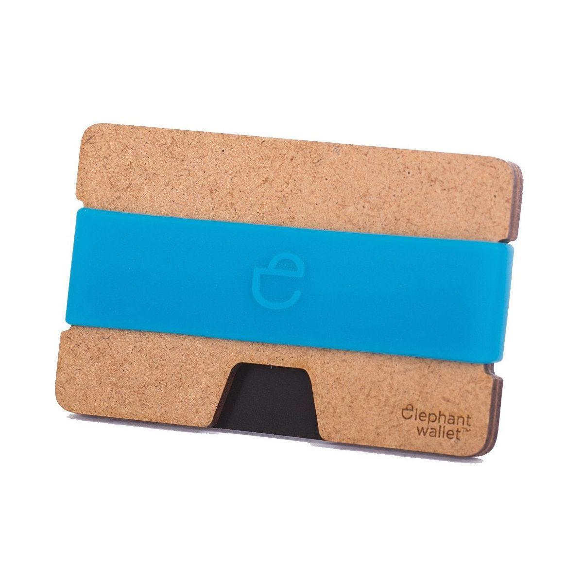 Minimalist Wood Wallet - Wood/Azure
