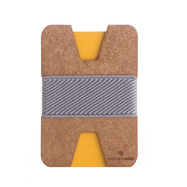 elephant Minimalist Wood Wallet - Wood/Light Grey