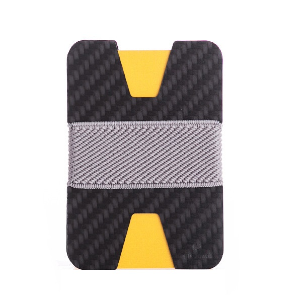elephant Minimalist Carbon Fiber Wallet - Carbon/Light Gray