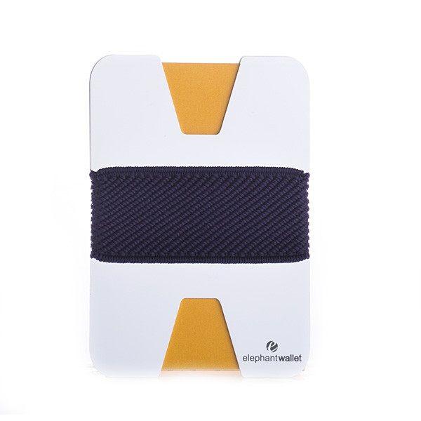 elephant Minimalist Aluminum Wallet - Aluminum/Navy Blue