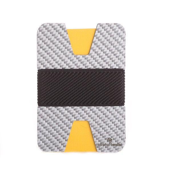 Minimalist White Carbon Fiber Wallet - Carbon/Black