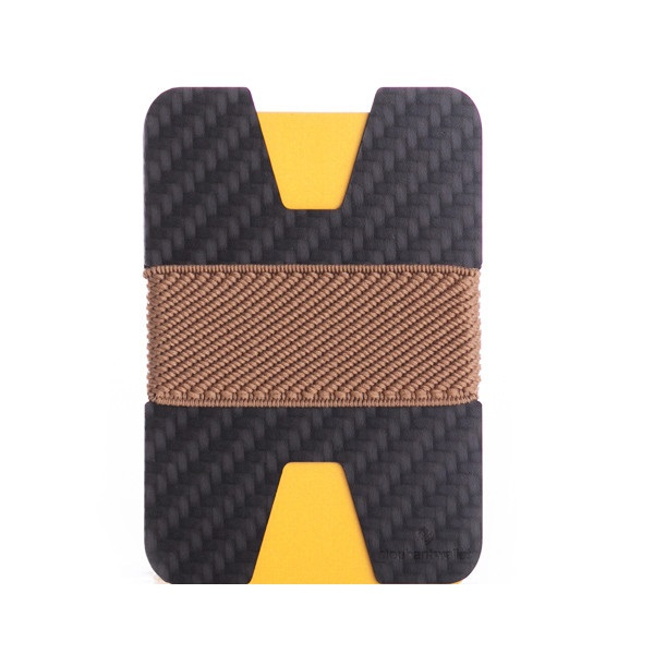 elephant Minimalist Carbon Fiber Wallet - Carbon/Light Brown