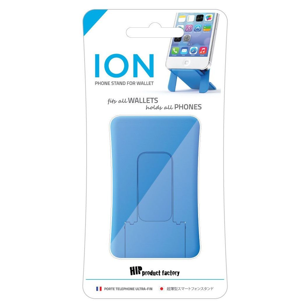 HIP ION phone stand for wallets - Blue
