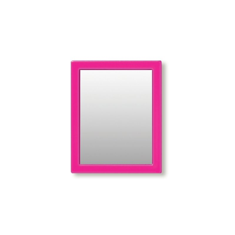 iDecoz Unbreakable Rectangle Phone Mirror - Hot Pink
