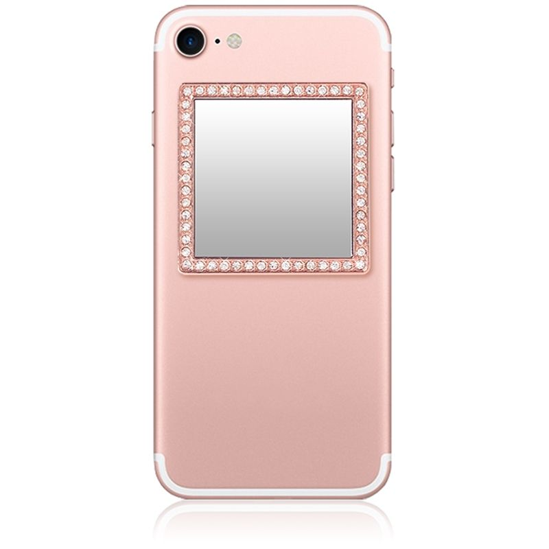 Unbreakable Square Phone Mirror - Rose Gold