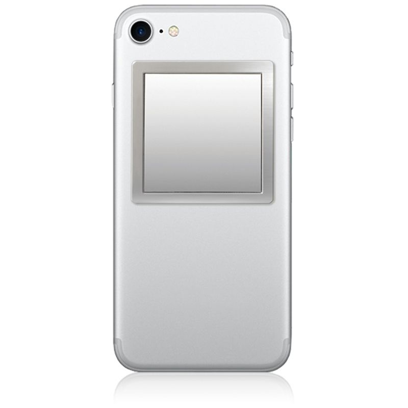 Unbreakable Square Phone Mirror - Silver