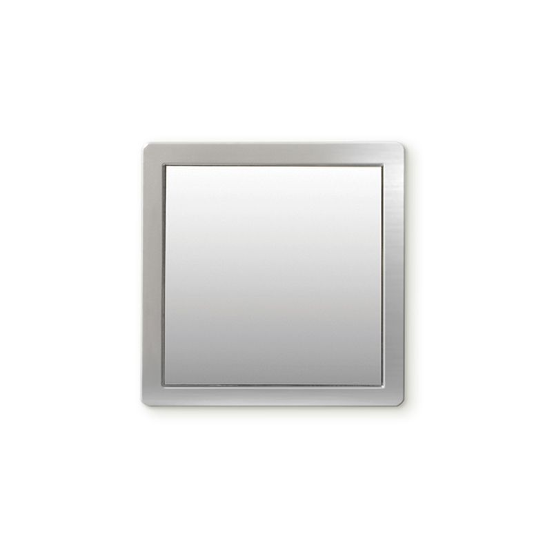 iDecoz Unbreakable Square Phone Mirror - Silver
