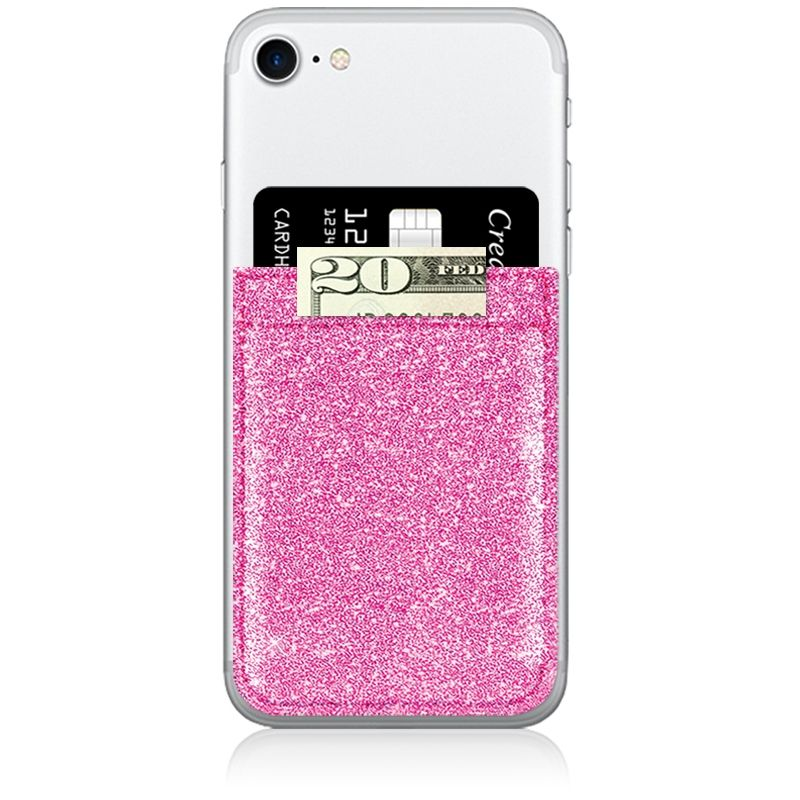 Phone Pocket - Glitter Pink