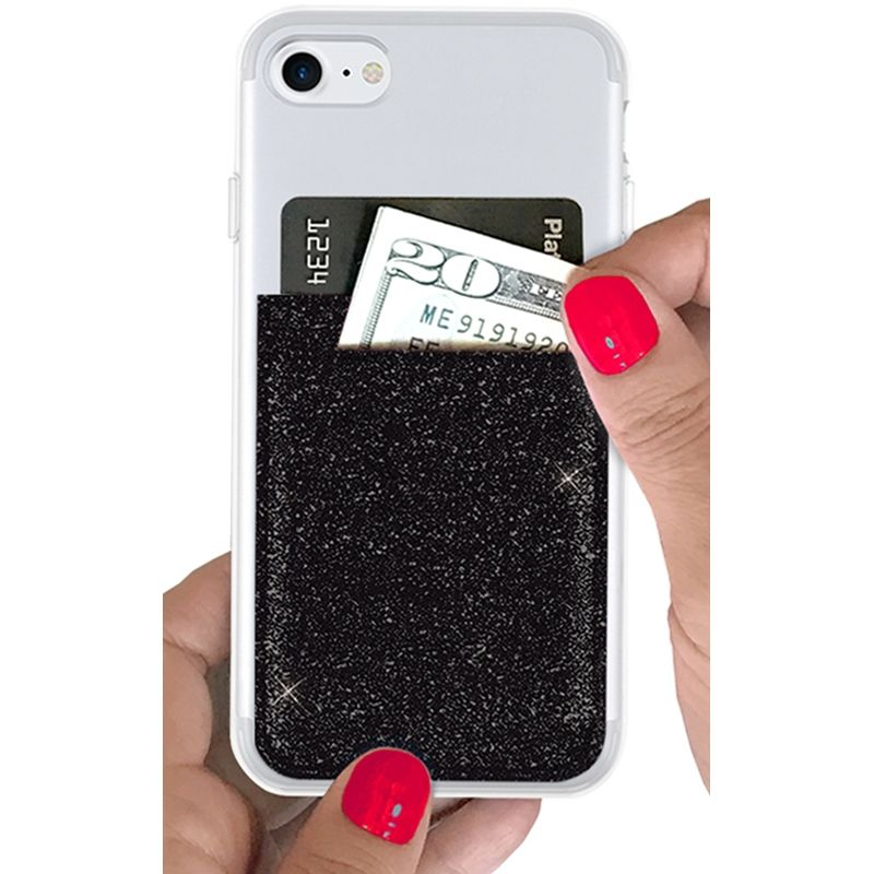 iDecoz Phone Pocket - Glitter Black