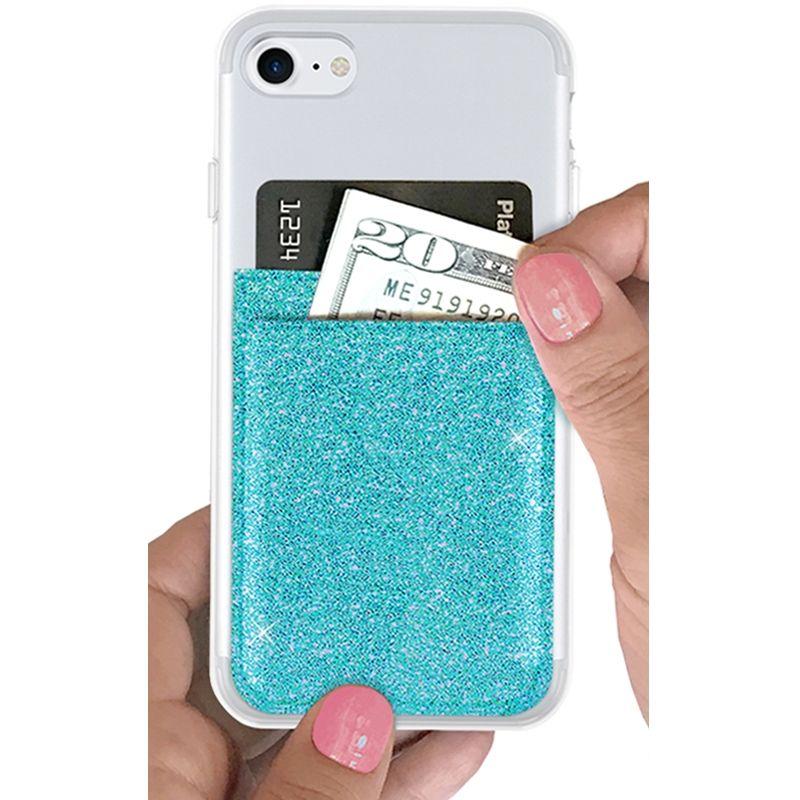 iDecoz Phone Pocket - Glitter Turquoise