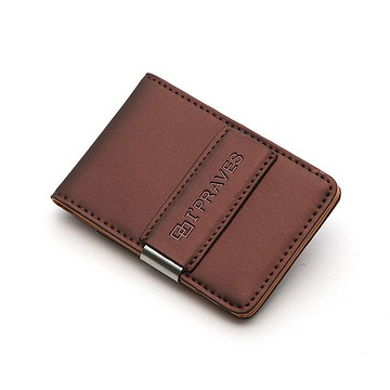 iPraves Money Clip Wallet - Brown