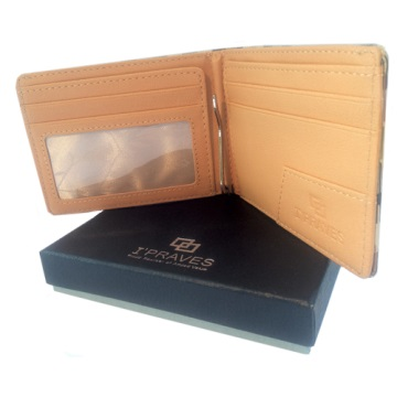 iPraves Money Clip Wallet - Beige