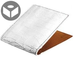 J.FOLD Havana Leather Wallet with Coin Pouch - Cracked Ivory