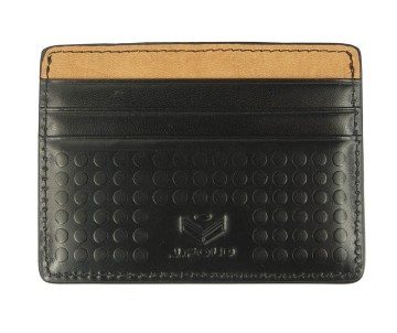 J.FOLD Flat Carrier Leather Wallet - Black