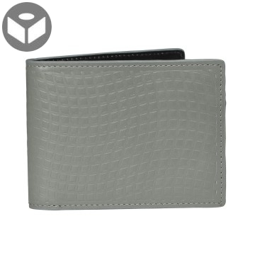J.FOLD Leather Wallet with Coin Pouch Emboss - Dark Grey