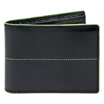 J.FOLD Thunderbird Leather Wallet - Black/Green