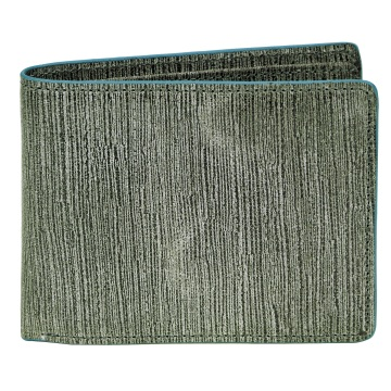 J.FOLD Flat Panel Leather Wallet - Gray/Blue