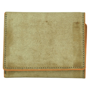 J.FOLD Flat Panel Tri-fold Leather Wallet - Brown/Orange