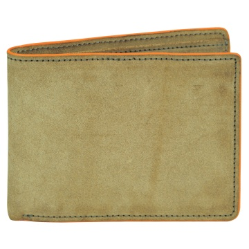 J.FOLD Flat Panel Leather Wallet - Brown/Orange