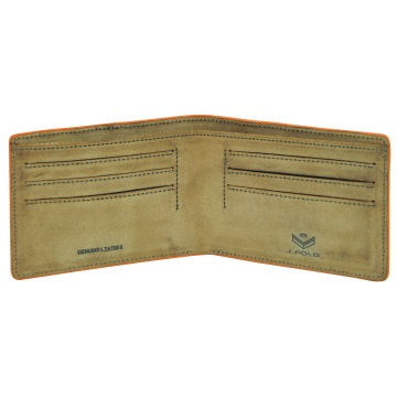 J.FOLD ארנק עור Flat Panel - חום