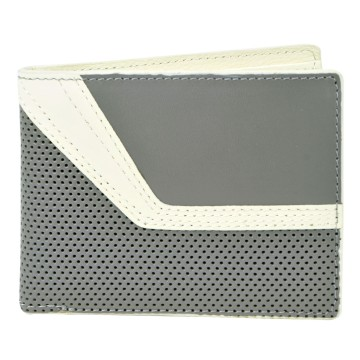 J.FOLD Jetstream Leather Wallet with Coin Pouch - Grey