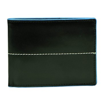 J.FOLD Thunderbird Leather Wallet - Black