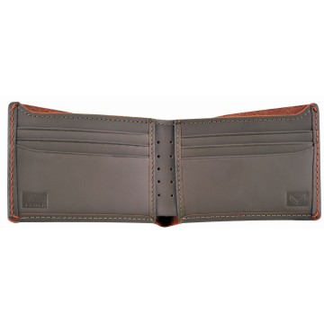 J.FOLD Leather Wallet Overstone - Grey