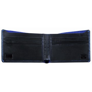 J.FOLD Leather Wallet Overstone - Navy/Blue