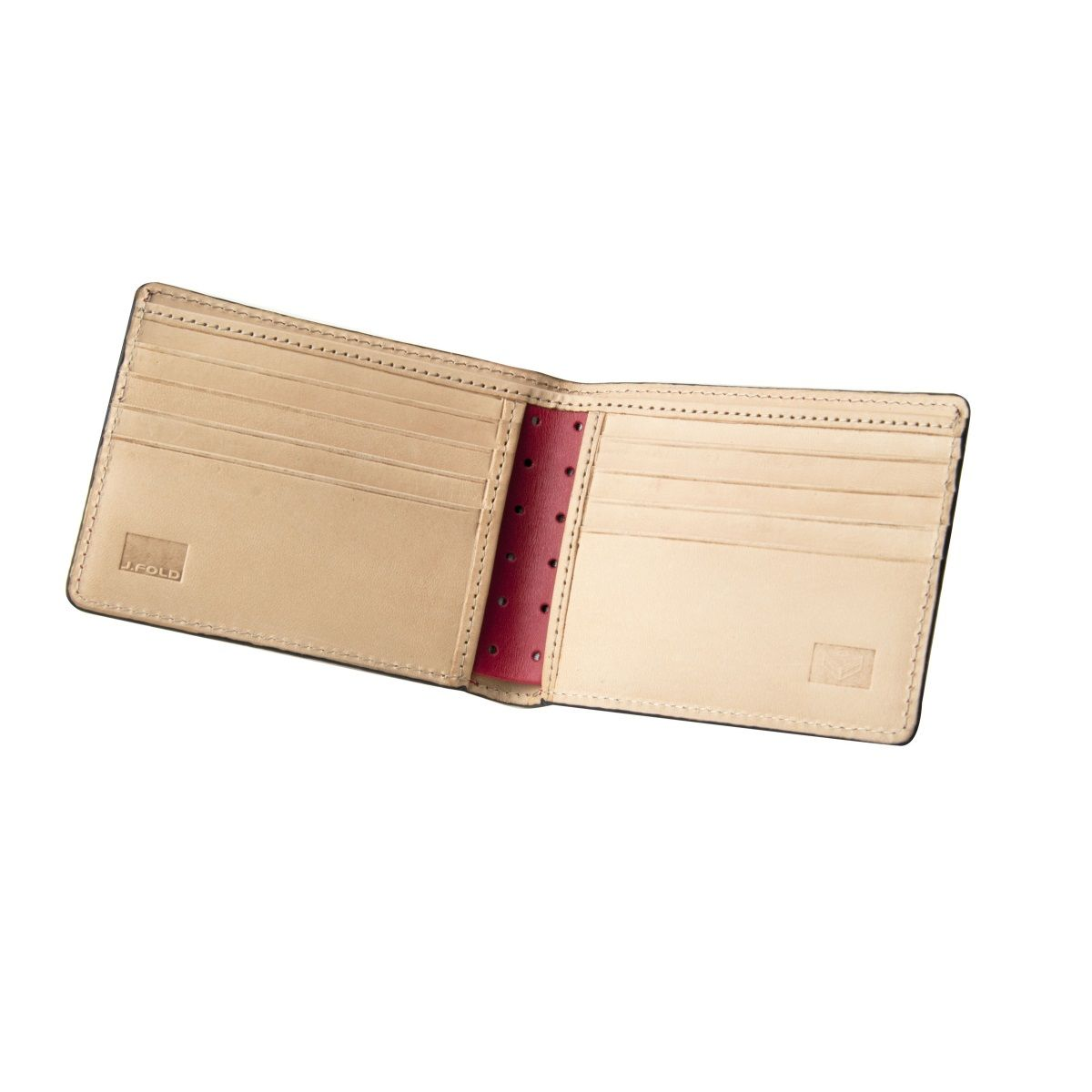 J.FOLD Thunderbird Leather Wallet - Red