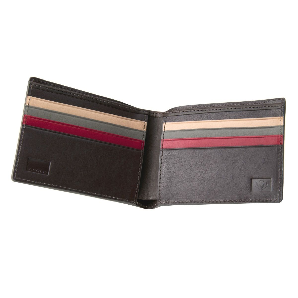 J.FOLD HavanaLeather Wallet - Red