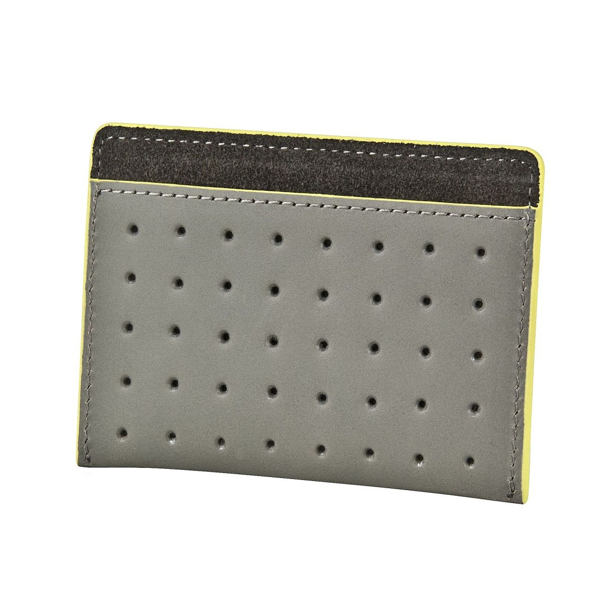 J.FOLD Flat Carrier Leather Wallet - Grey