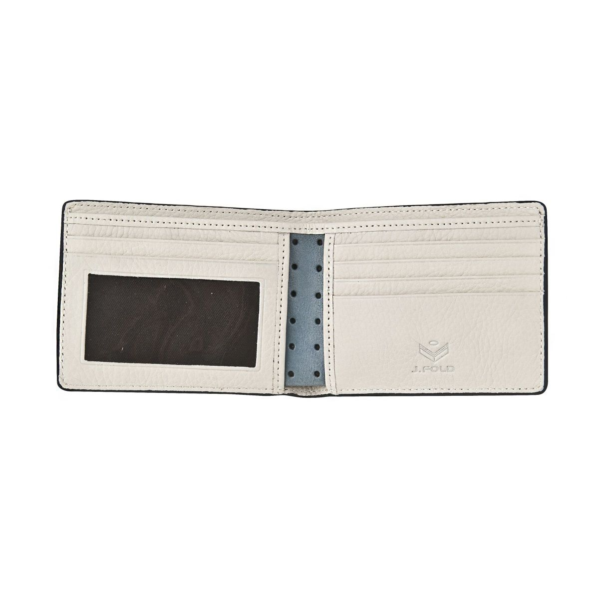 J.FOLD Loungemaster Leather Wallet  - Grey