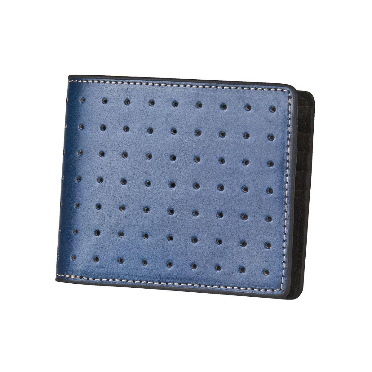 J.FOLD ארנק עור Loungemaster - כחול