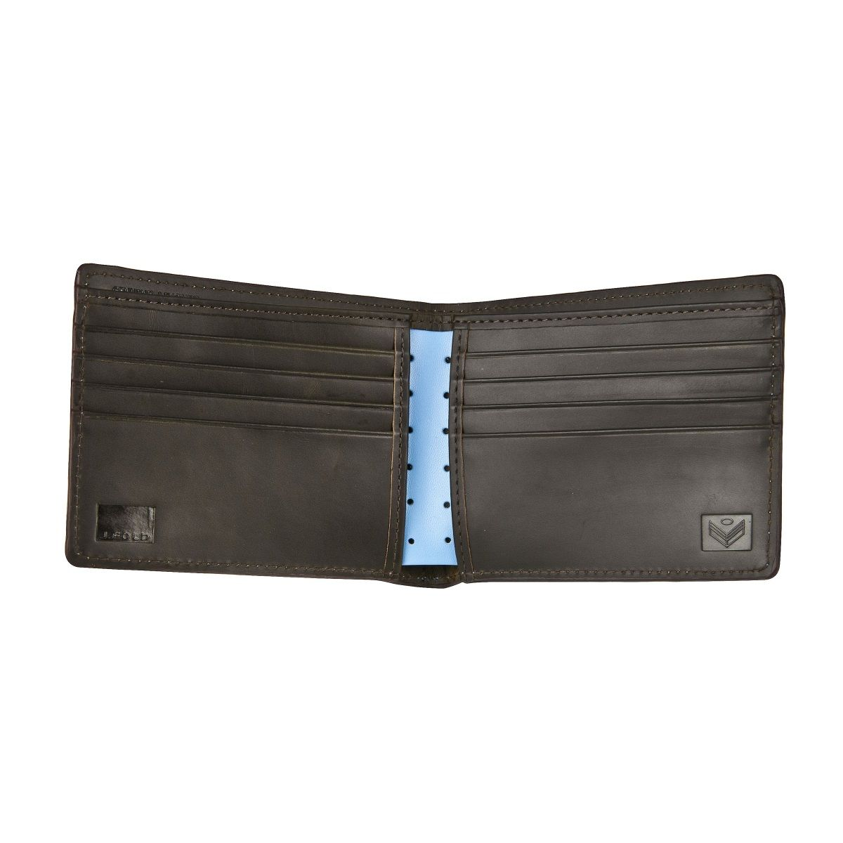 J.FOLD Loungemaster Leather Wallet  - Light Blue