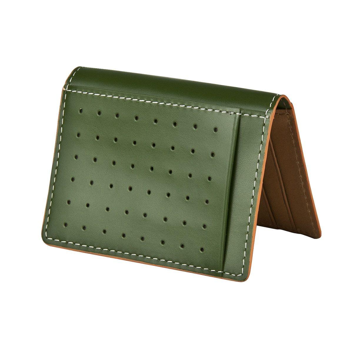 J.FOLD ארנק עור Folding Carrier  - ירוק