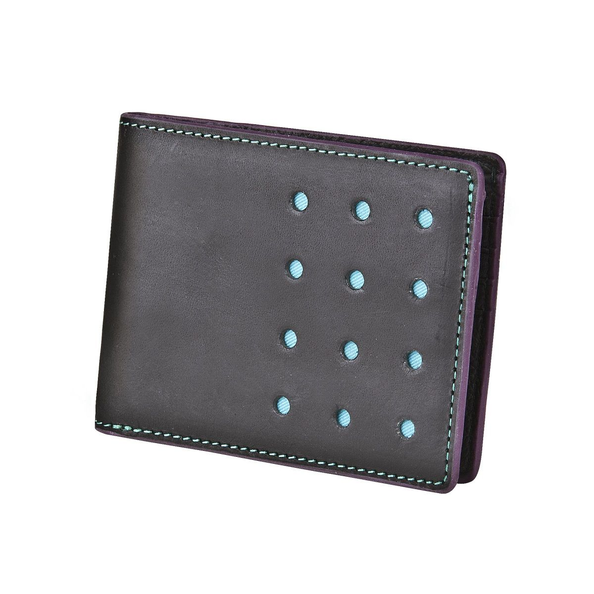 J.FOLD V-Twelve Leather Wallet - Black
