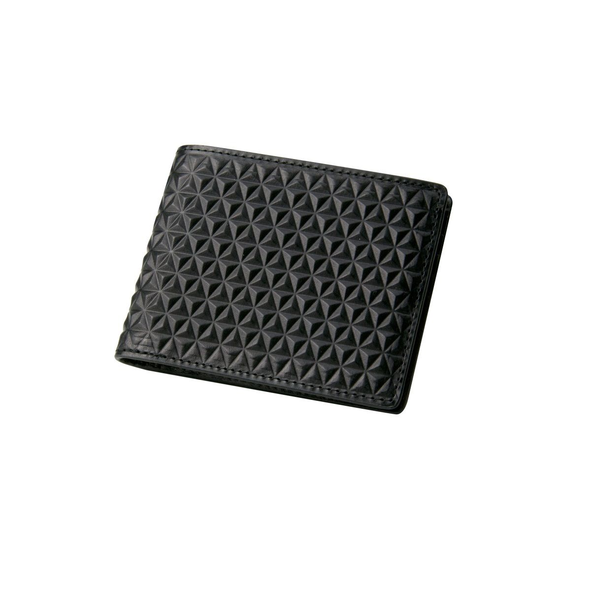 J.FOLD Tetra Leather Wallet - Black