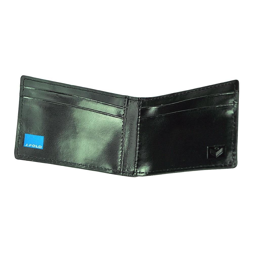 J.FOLD ארנק עור Flip Clip  - שחור