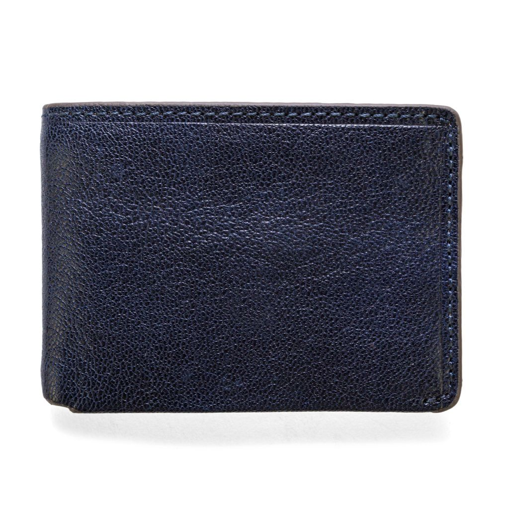 J.FOLD ארנק עור Overstone - שחור\כחול