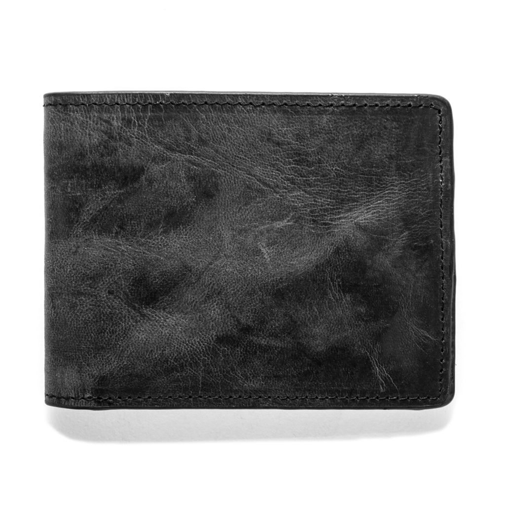 J.FOLD Leather Wallet Petrol - Black