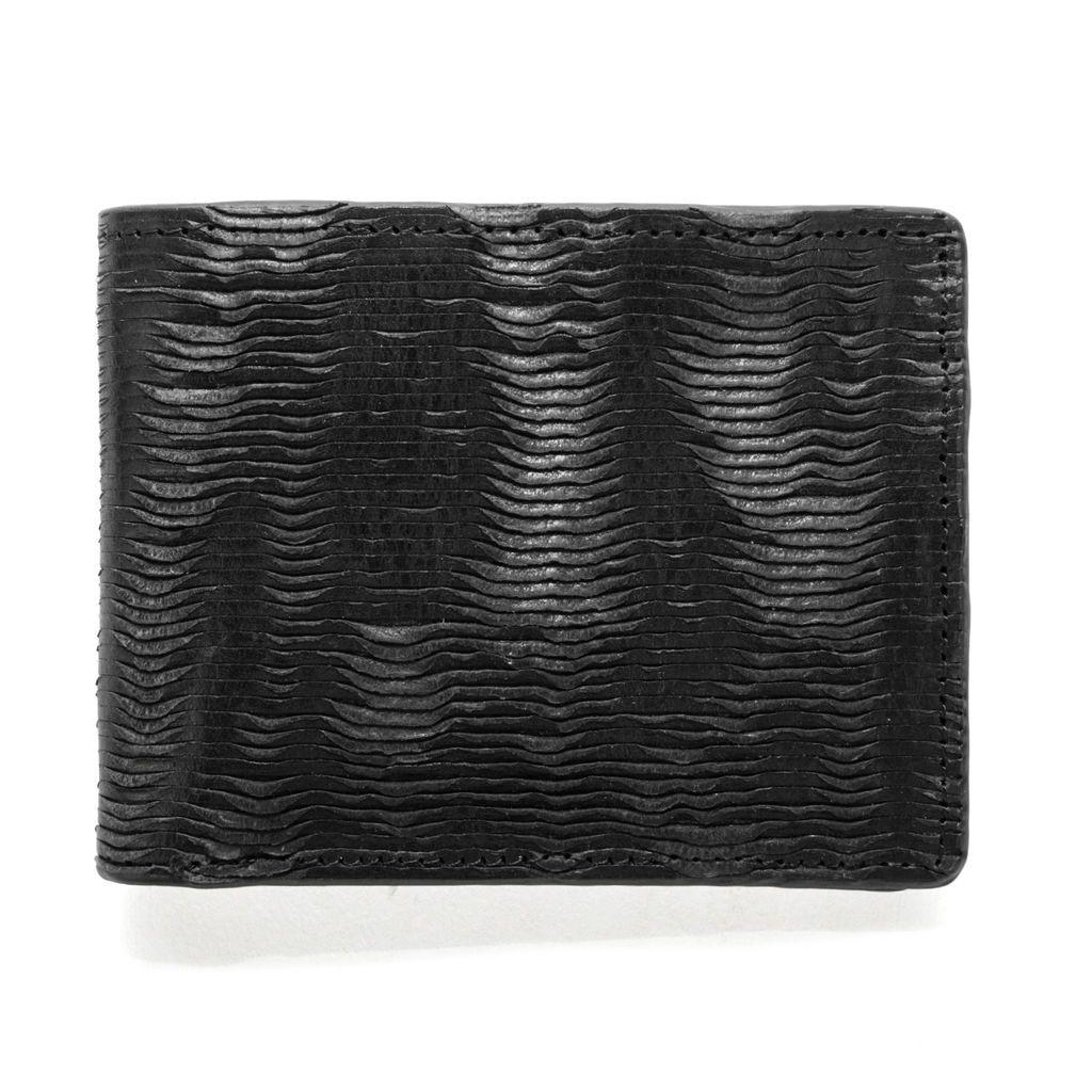 J.FOLD ארנק עור Furrow - שחור