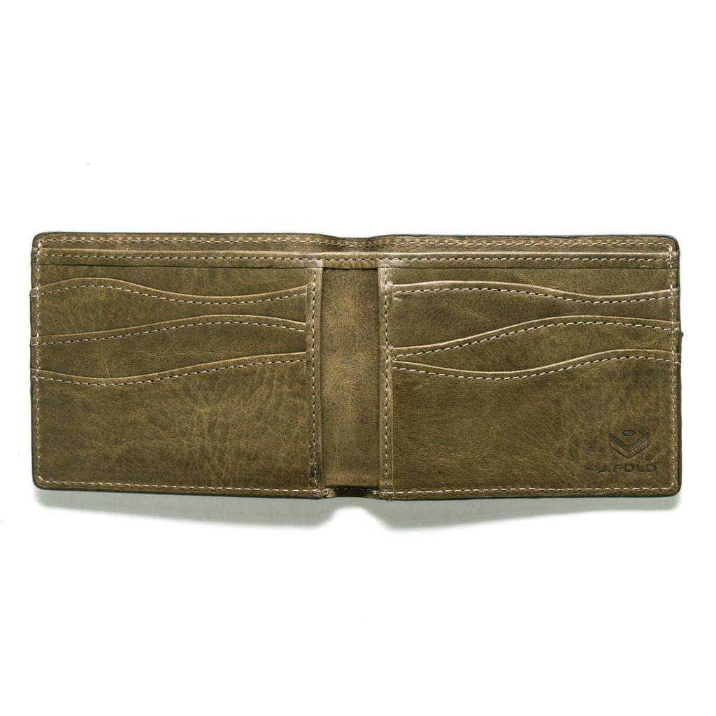 J.FOLD Leather Wallet Torrent - Olive