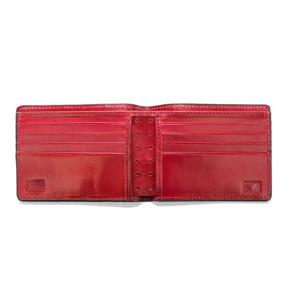 J.FOLD Roadster Leather Wallet - Red