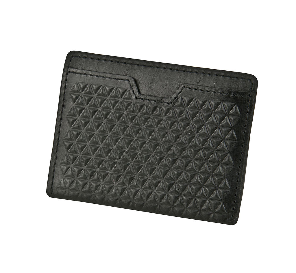 J.FOLD Tetra Flat Carrier Leather Wallet - Black